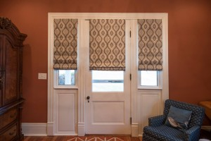 Cordless Roman Shades in the Entry