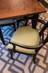 Fabulous Fabric on Chairs in Dining Room