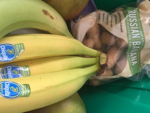 Bananas and Russian Banana Fingering Potatoes