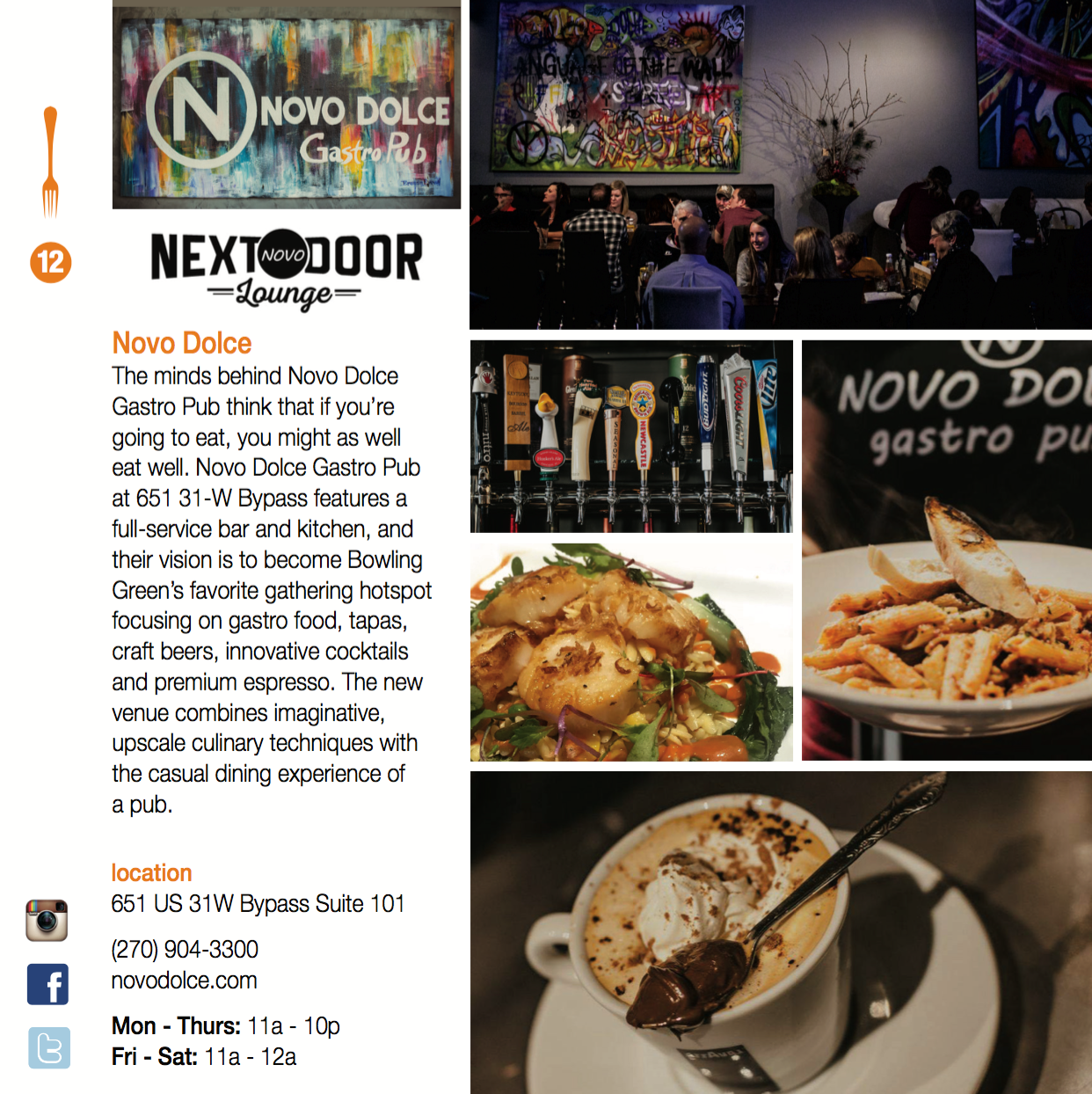 Novo Dolce Gastro Pub & Next Door Lounge