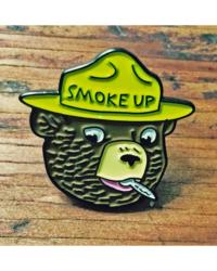 SMOKE UP! ENAMEL PIN $7.00