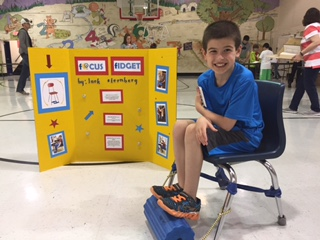 Photo at 3rd Grade invention fair of the co-creator. Awesome!