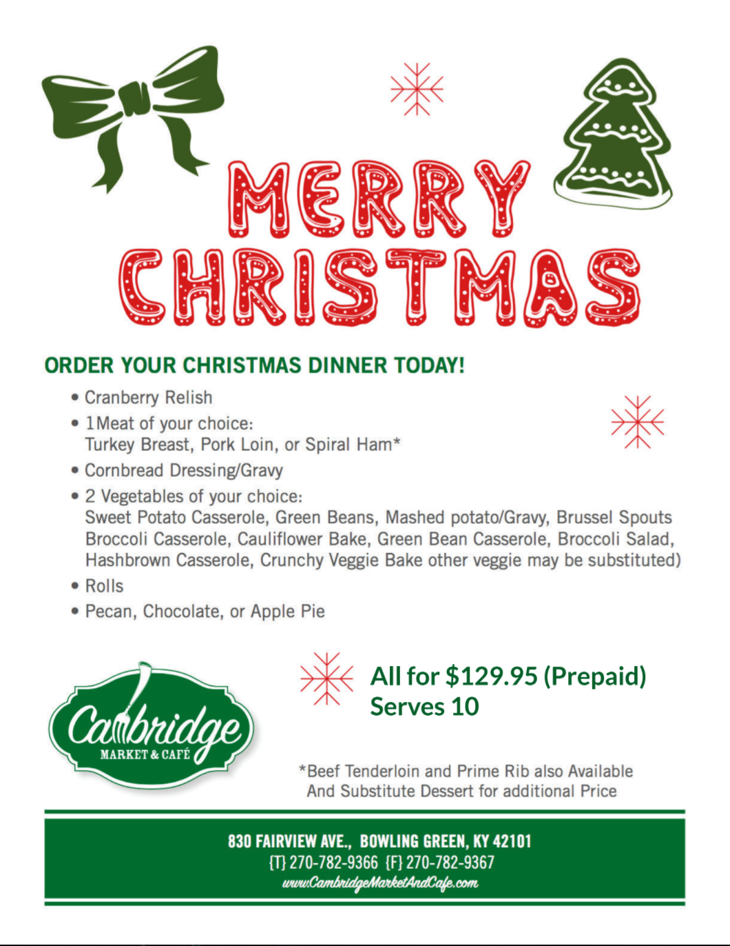 Family Dinner from Cambridge? Christmas is Starting Now, Get Your ...
